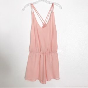 Charlotte Russe | Light Pink Romper Chic and Cute